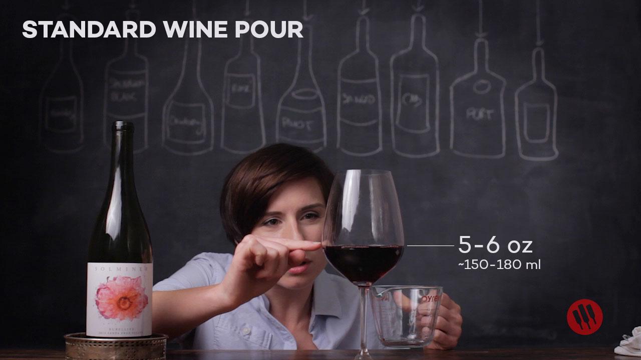 Standard Wine Pour is 5-6 oz