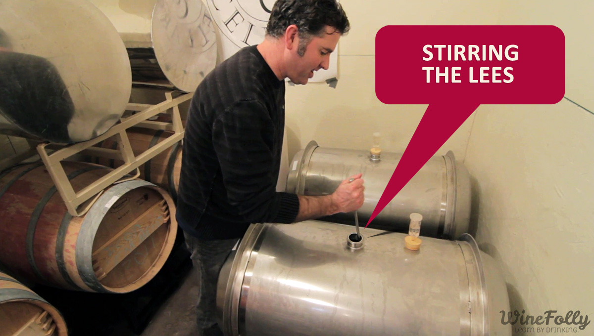 Stirring the lees Washington Wine Maker Landon Sam Keirsey