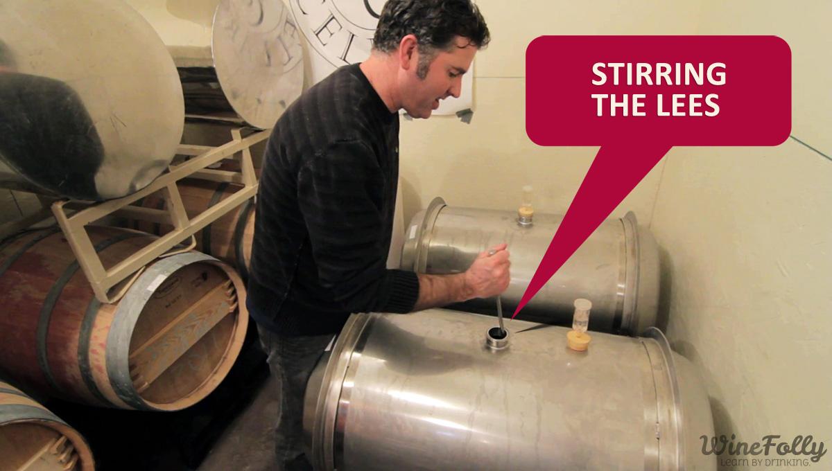 Stirring the lees Washington Wine Maker Landon Sam Keirsey