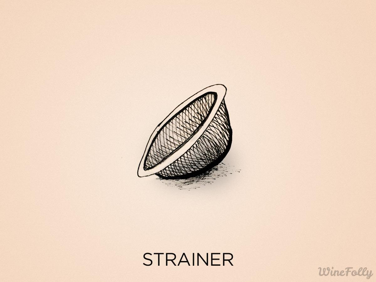stainless steel strainer illustration