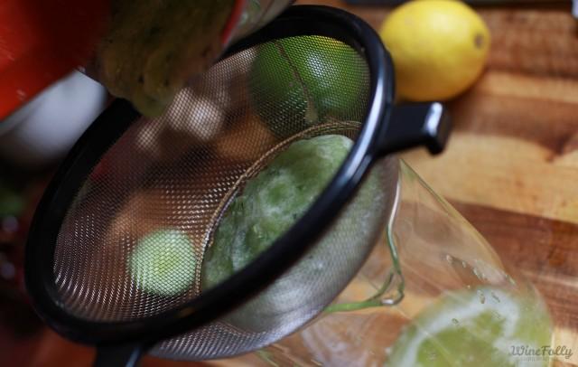 how to make cucumber water: straining