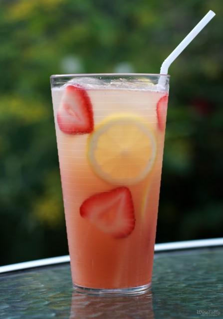 Moscato Strawberry Basil Lemonade by Wine Folly