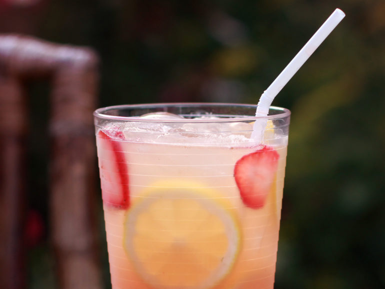 Strawberry Basil Moscato Lemonade