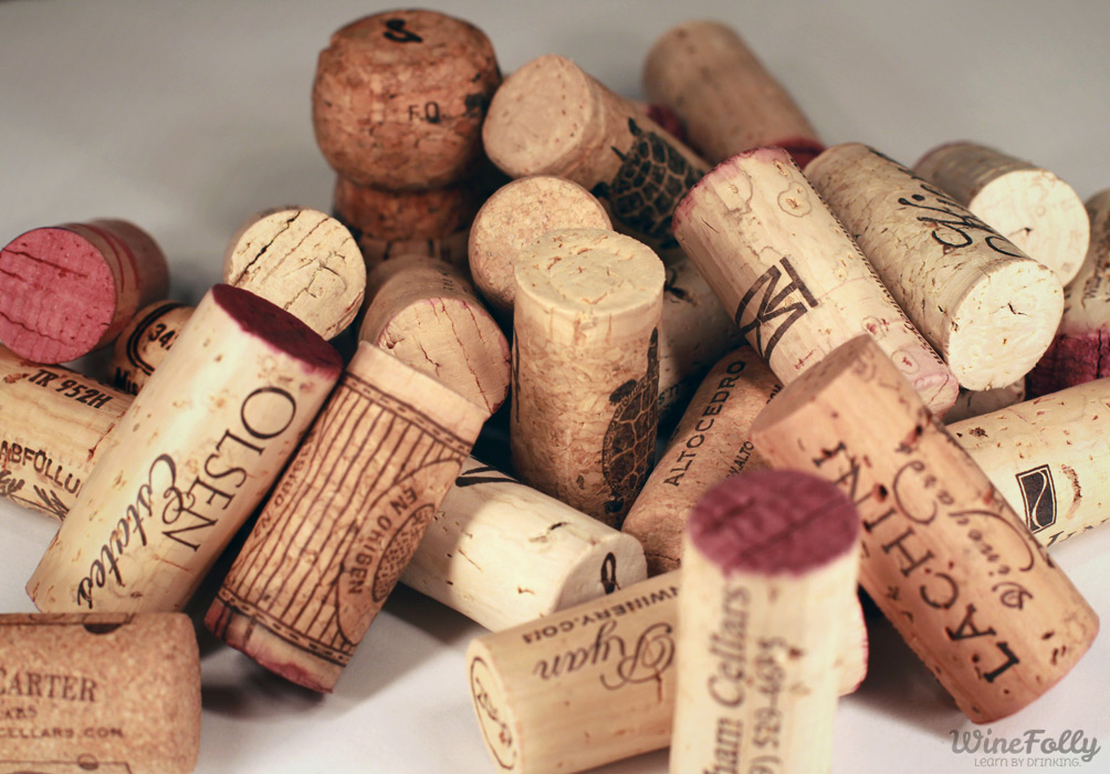 Different styles of corks affect aging wine