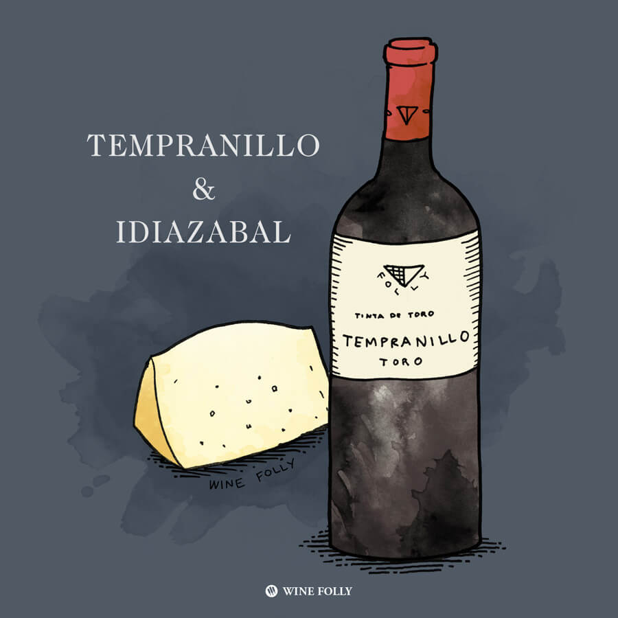 tempranillo-cheese-pairing-idiazabal-illustration