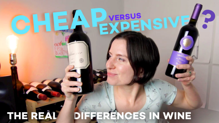 Cheap vs Expensive Wine Taste Test with madeline puckette - video
