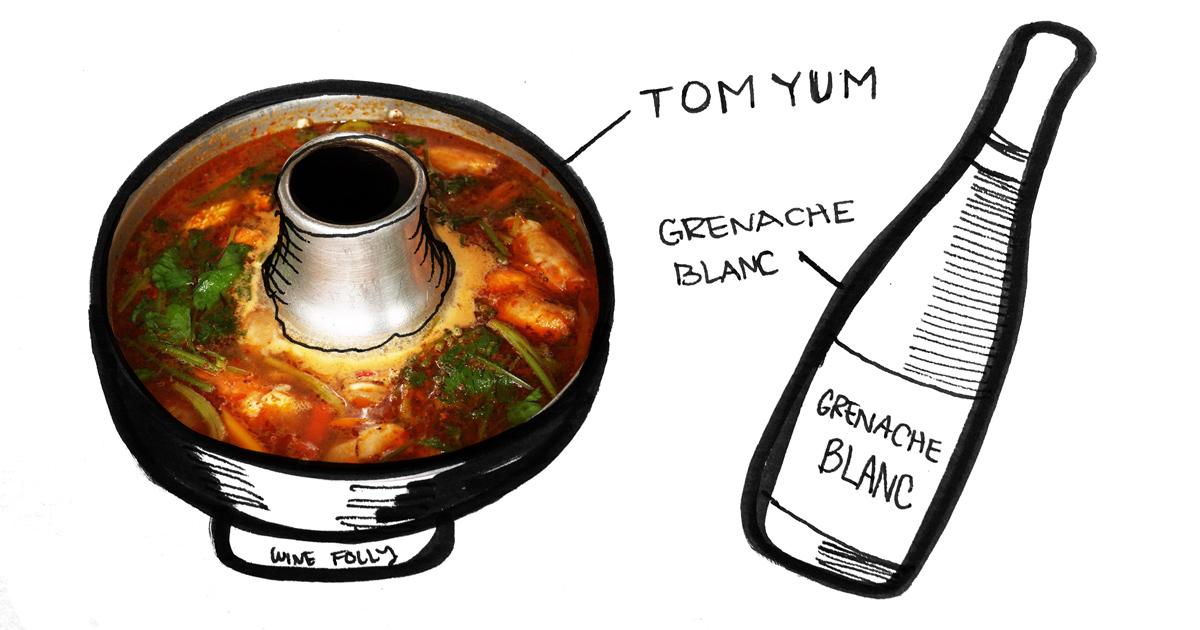 tom-yum-soup-grenache-blanc-pairing-winefolly-illustration