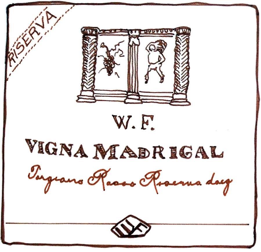 Torgiano Rosso Riserva DOCG Wine label