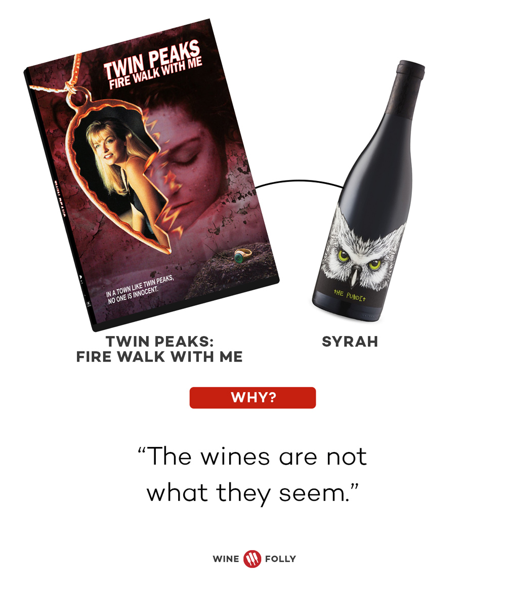 Twin Peaks and Syrah Horror Movie Wine Pairings