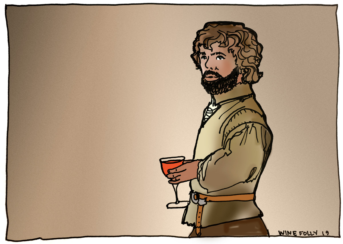 Tyrion Lannister of Game of Thrones - Dwarf Prince - Illustration by Wine Folly