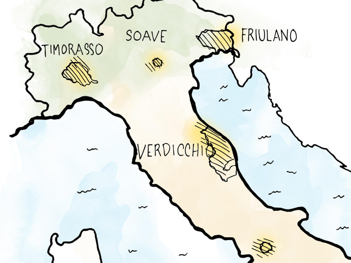 6 Italian White Wines That Are Hugely Underrated