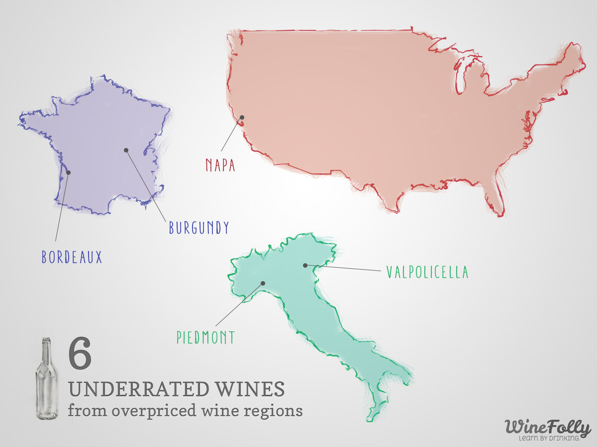 Under rated wines from top wine regions
