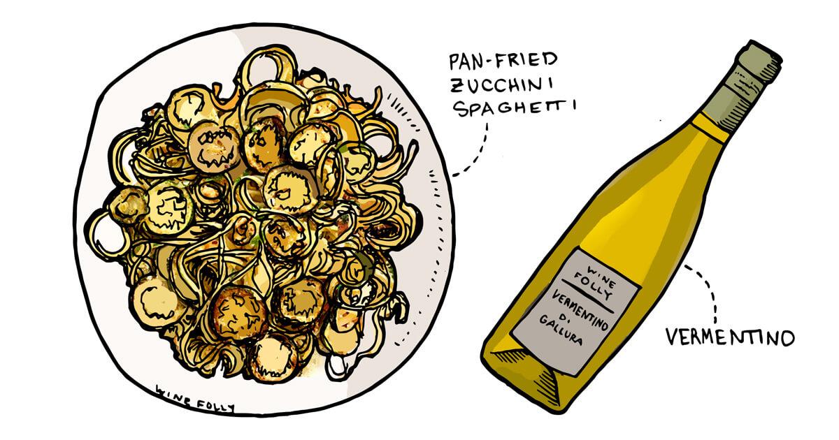 vegetable-spaghetti-zucchini-vermentino-pairing-winefolly