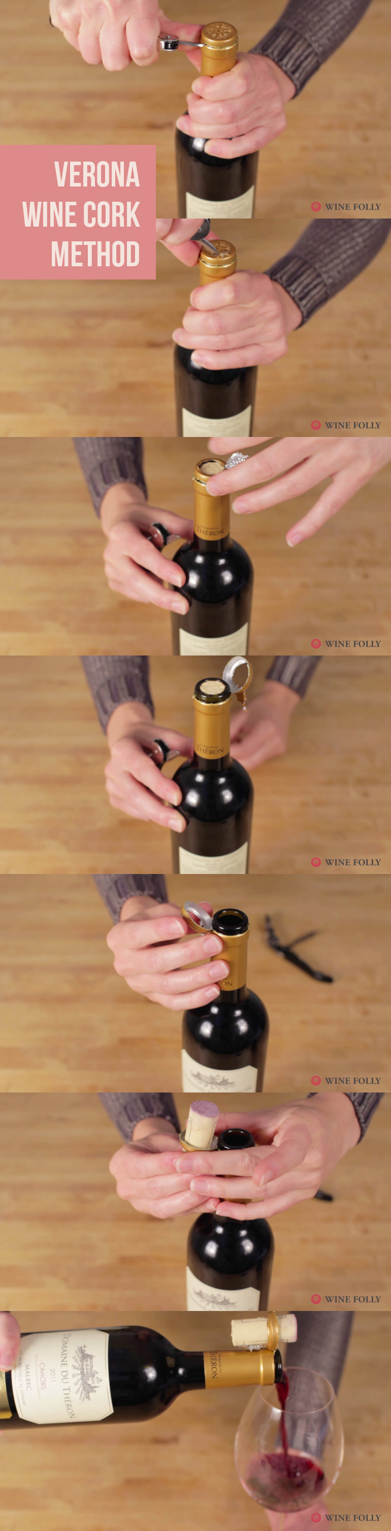 Veronese wine cork trick by Wine Folly