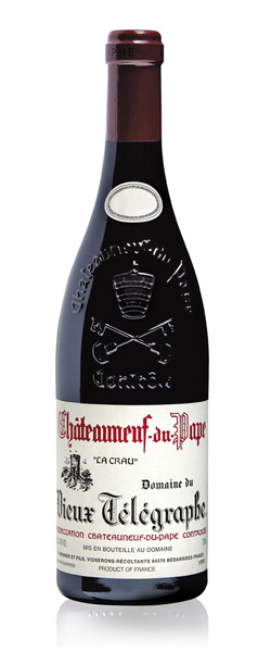 Image of a bottle of Domaine du Vieux Telegraphe Chateauneuf-du-Pape wine