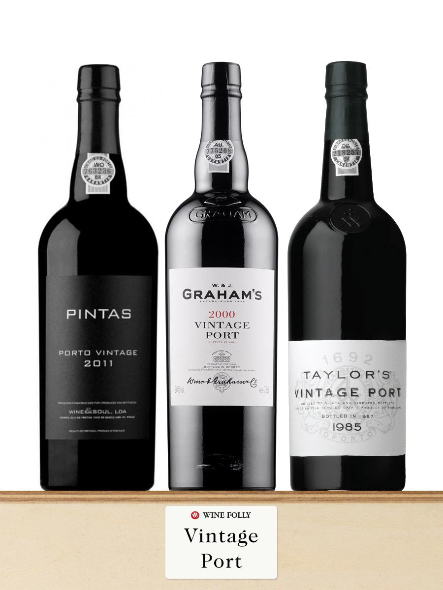 Vintage port wine