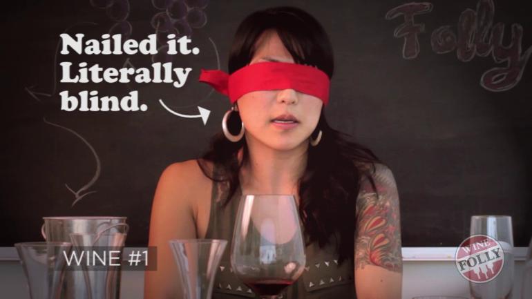 Rina Bussell blind tasting wine