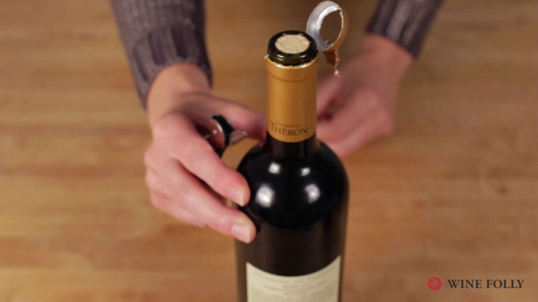 Verona wine bottle cork trick