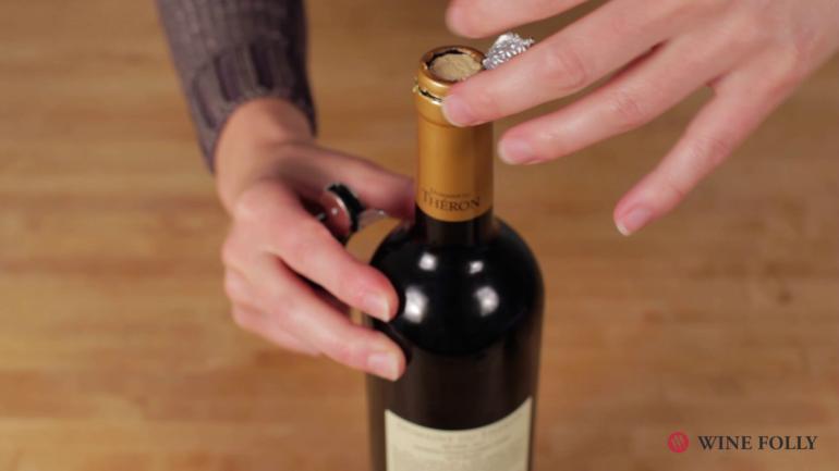 Verona wine cork trick