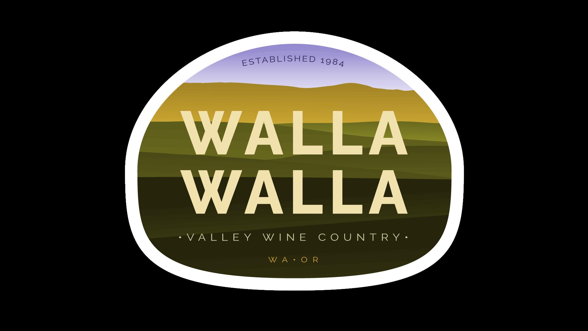Walla Walla Valley Wine Country Guide Emblem - Wine Folly