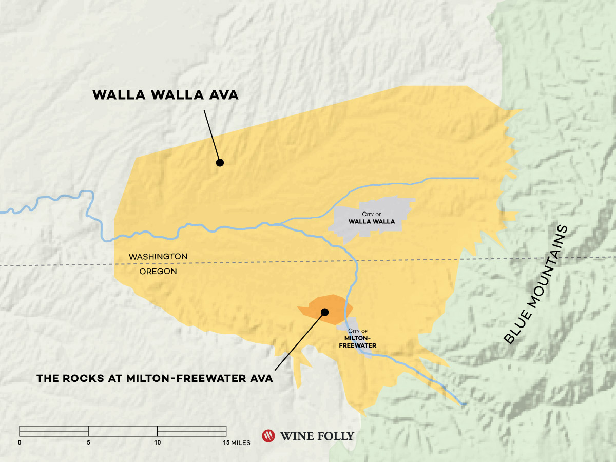 Walla Walla Wine Map by Wine Folly