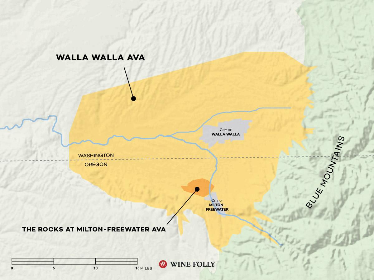 Walla Walla Wine Map by Wine Folly