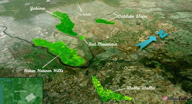 Top vineyard locations for producing Washington syrah
