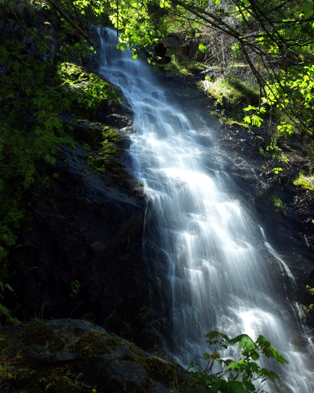 The waterfall lives by the 50 in between Lake Tahoe & Placerville, CA