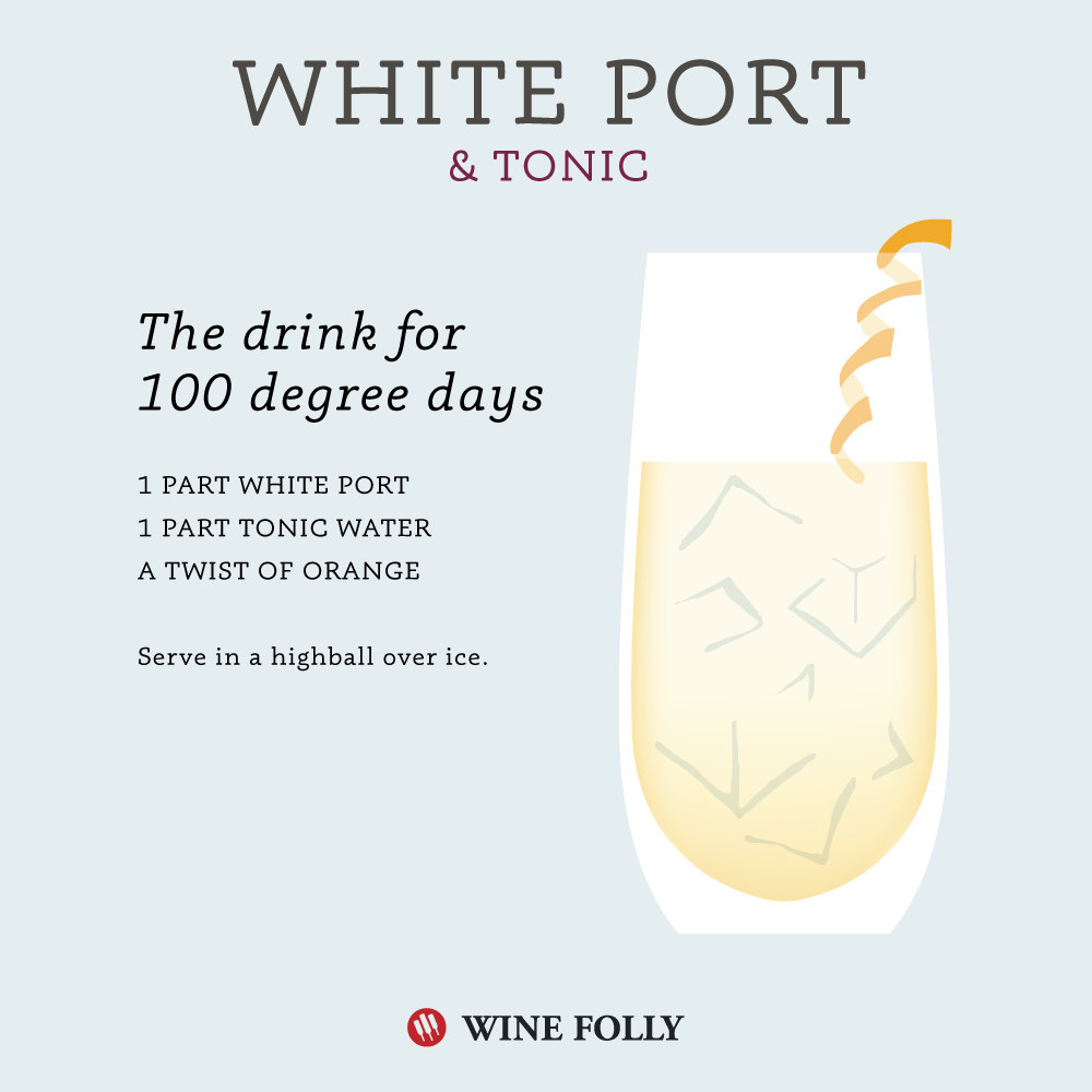 Wine Port and Tonic wine cocktail best summer wine cocktails by Wine Folly