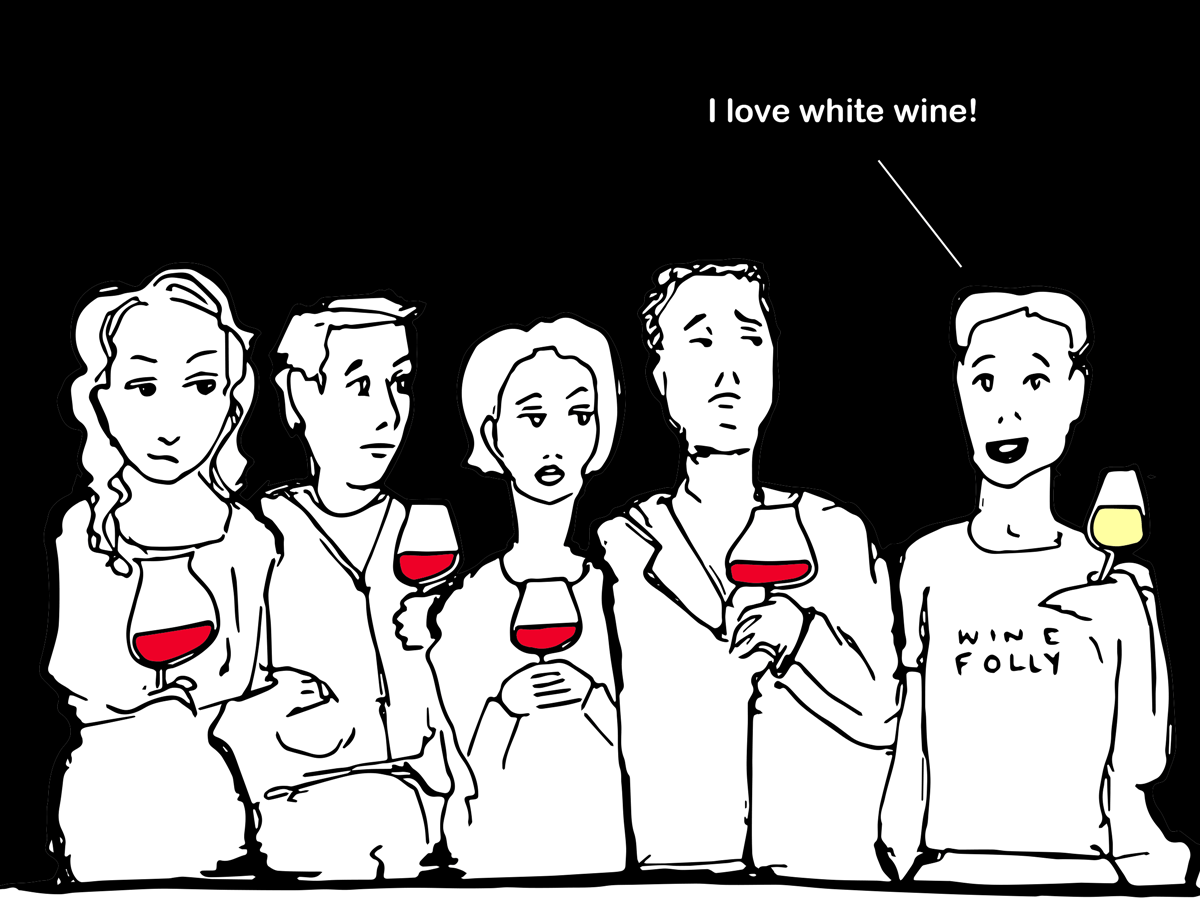 White Wine Lovers Illustration