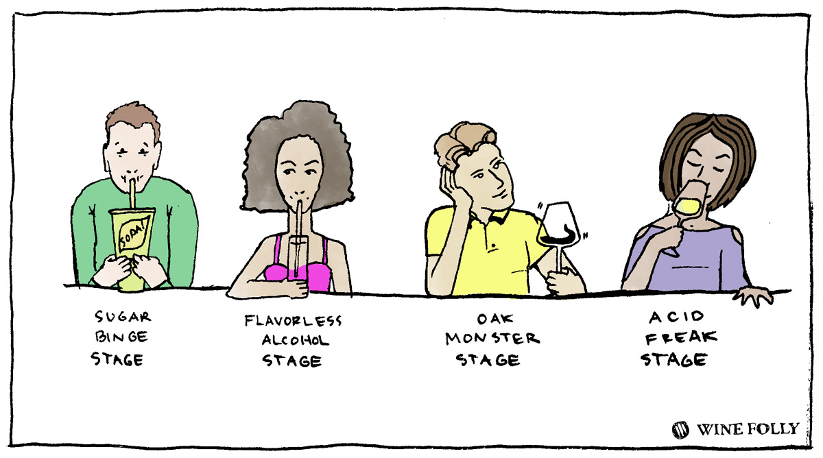 The stages of wine