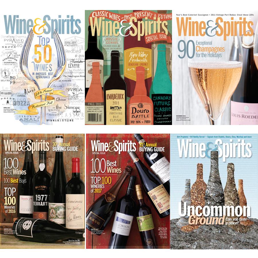 Wine and Spirits Magazine Covers