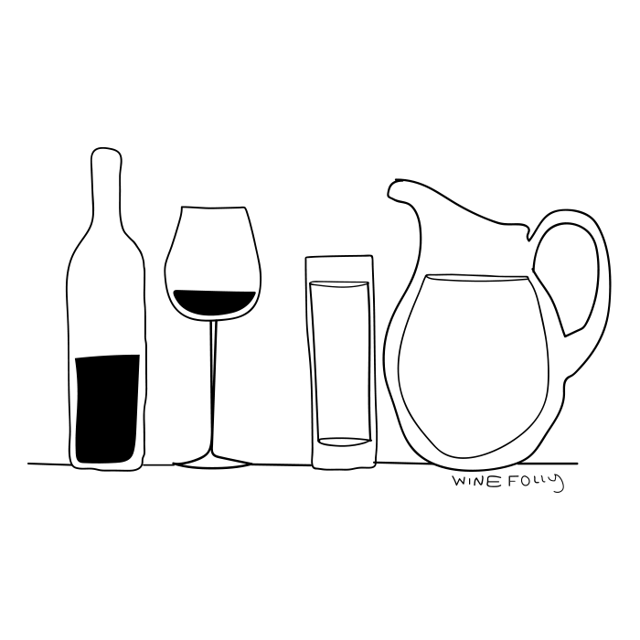 wine-and-water-bottle-glass-illustration-black-and-white