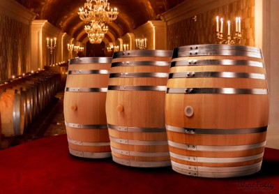 wine-barrels-in-fancy-wine-cellar-oaking-wine