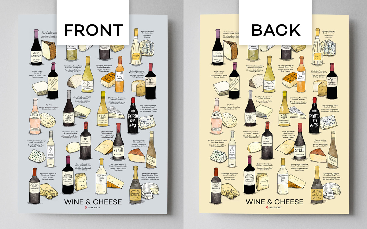 Wine and Cheese Poster - 2-sided design by Wine Folly