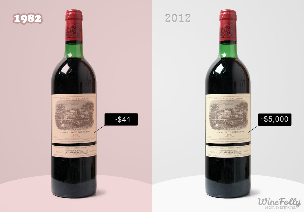 the 1982 Latife Rothschild now asks for around $5000 a bottle from $41 on original release.