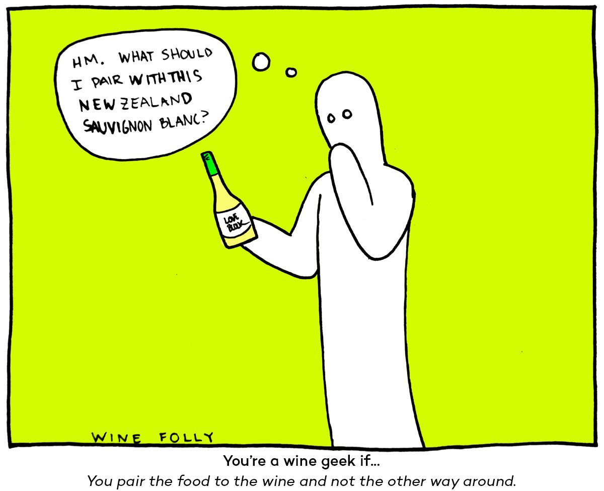 Wine Geek Pairing with food Wine Folly Comic