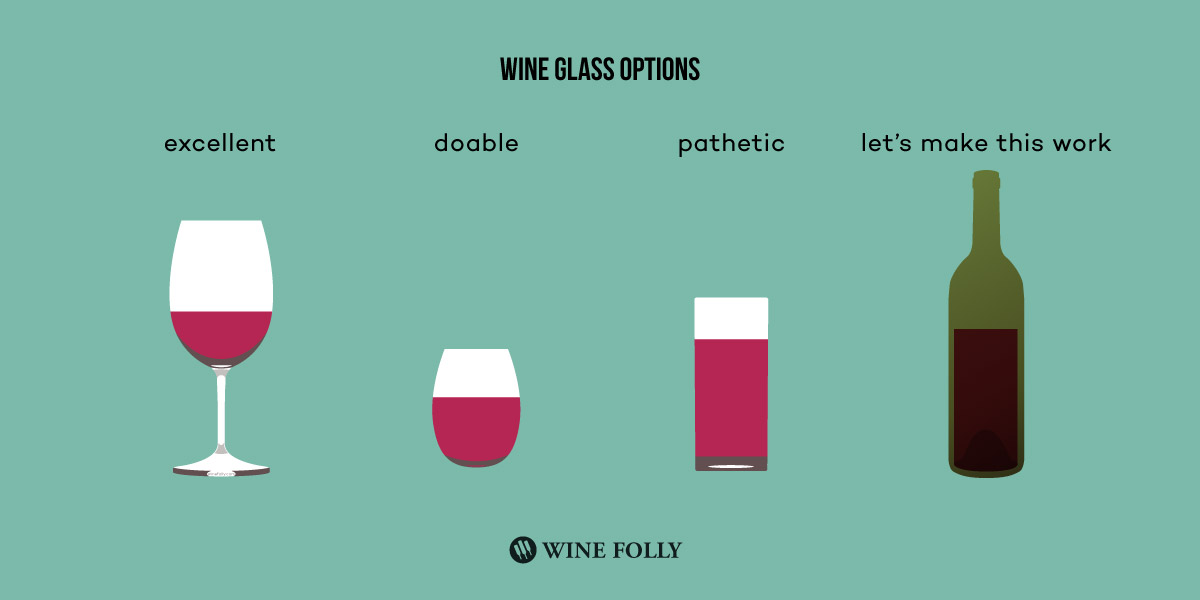 how a wine connoisseur views different types of wine glasses