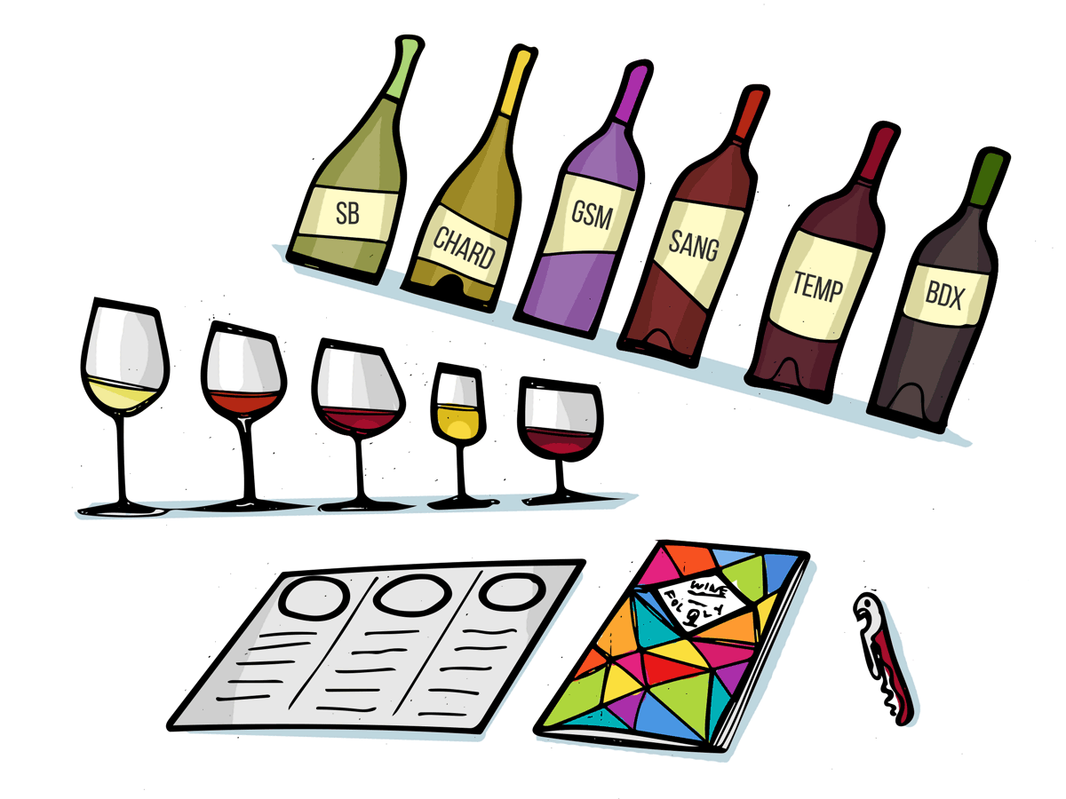 Wine Courses - Illustration by Wine Folly