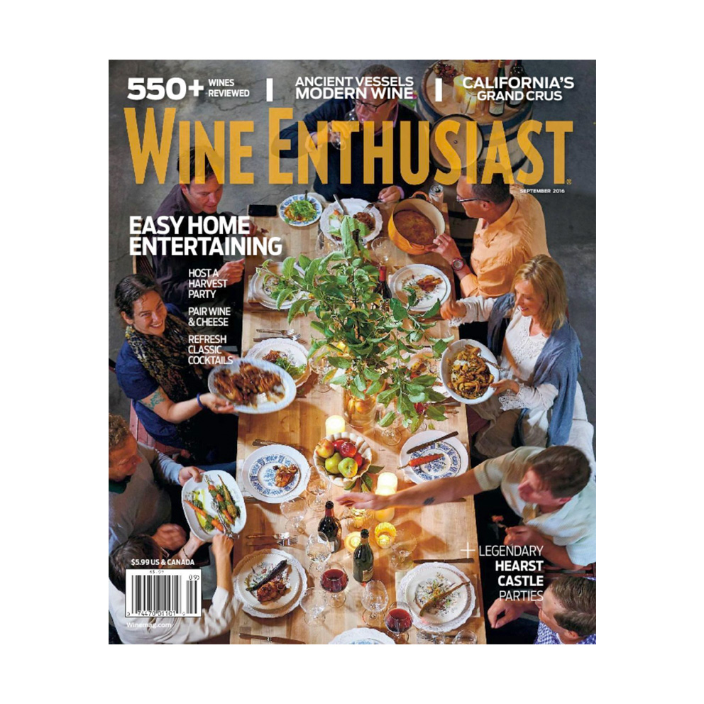 Wine Enthusiast Magazine Cover - Winter Gift Guide by Wine Folly