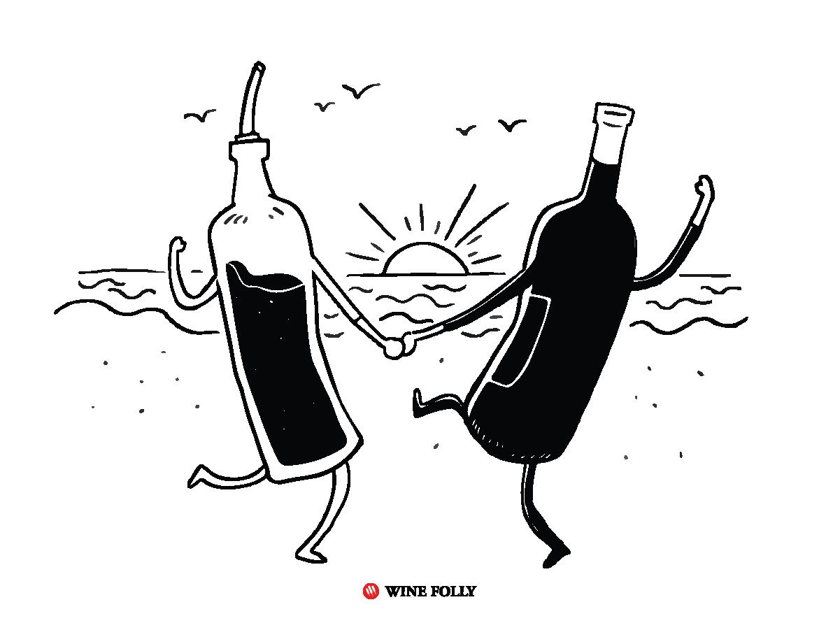 wine-faults cartoon-acetic-acid-volatile-acidity