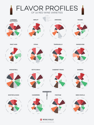 Wine Flavor Profiles of Red Wines by Wine Folly