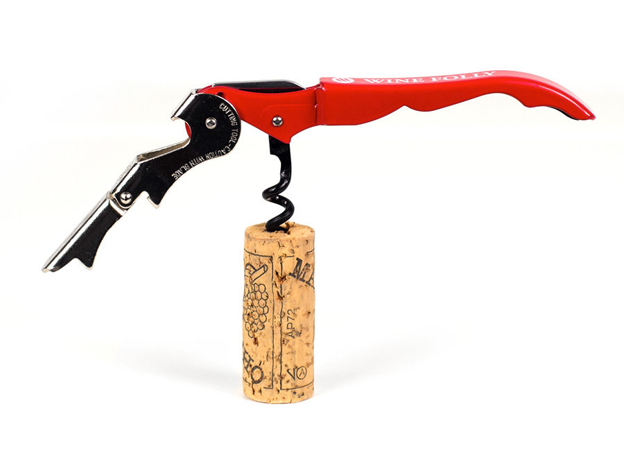 Wine Folly genuine pulltaps corkscrew - red color