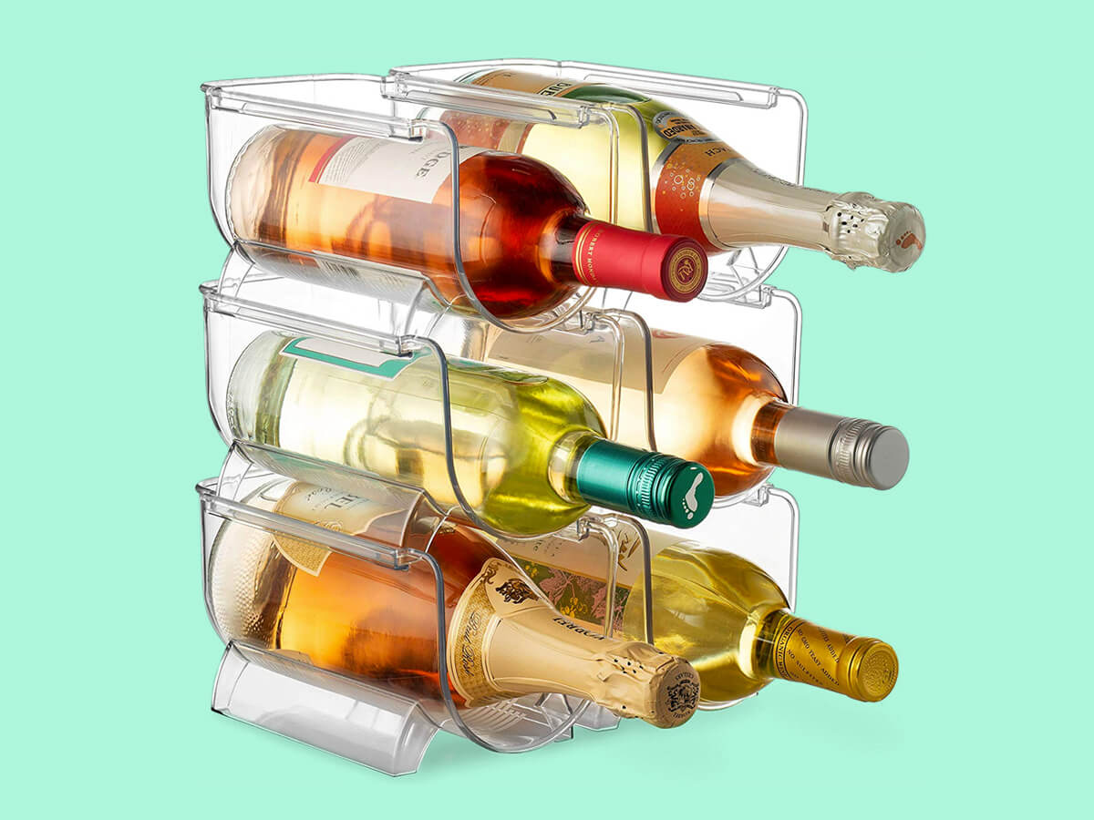 Wine fridge organizers