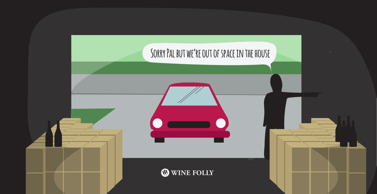 wine taking over your garage