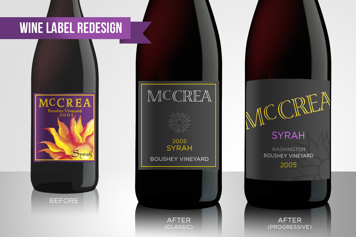 Wine Label Redesign (for fun)  McCrea Cellars