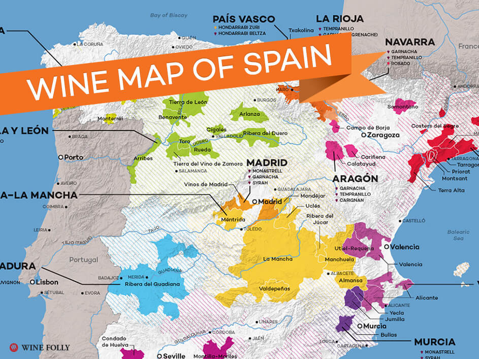 Map Of Spain Wine Regions Wine Folly
