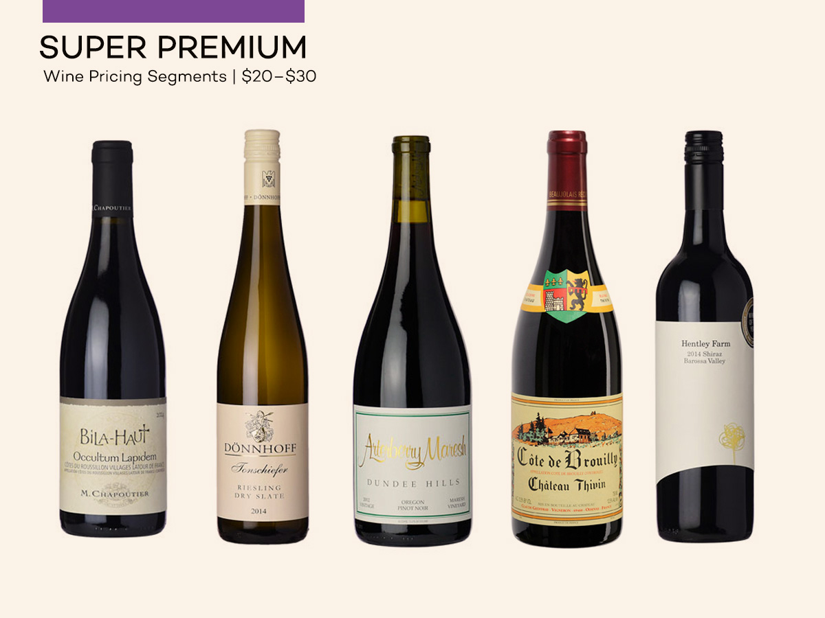 Wine Pricing - Super Premium Wines