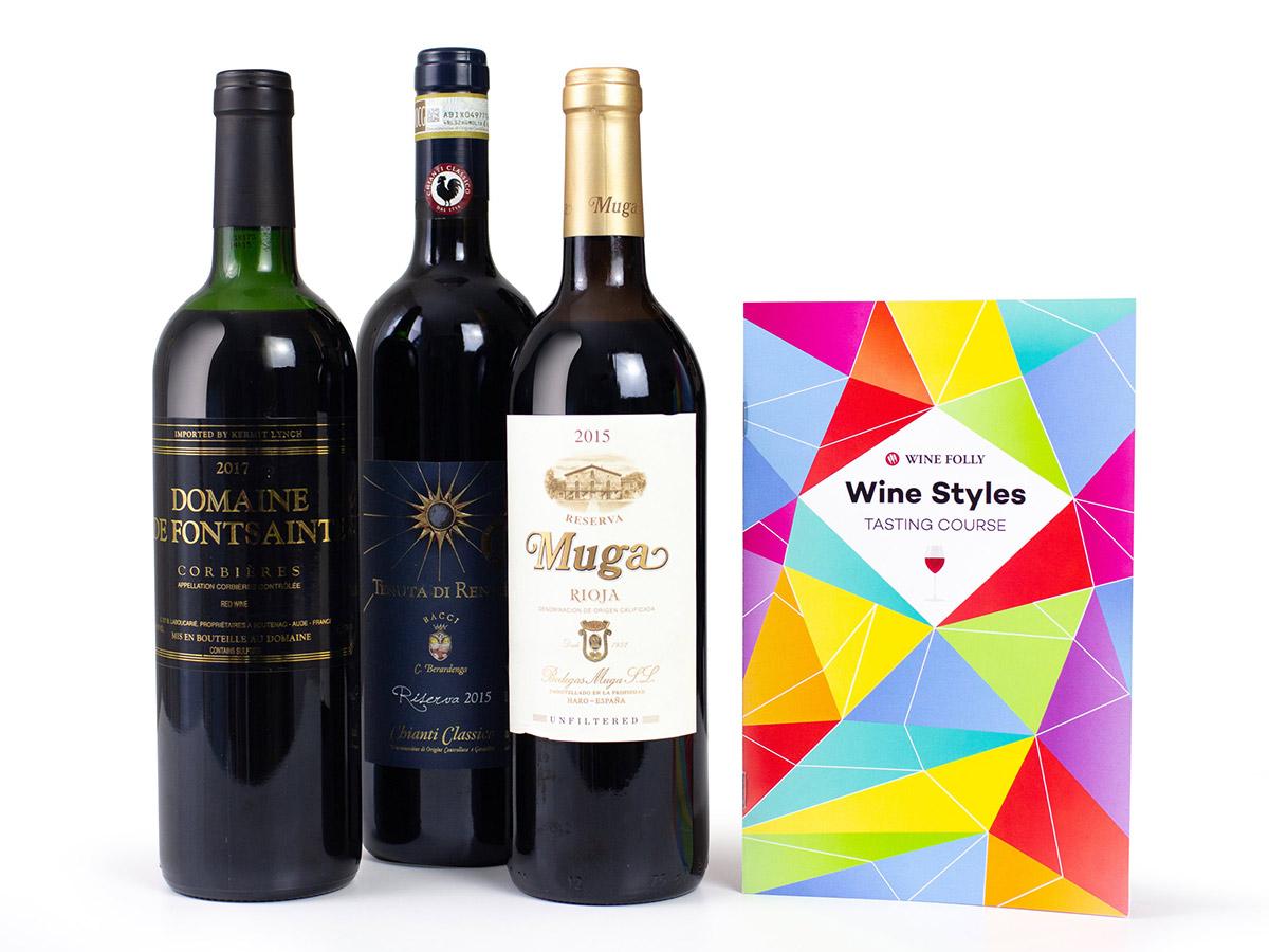 3-Bottle Red Wine Learning Package - Wine Folly