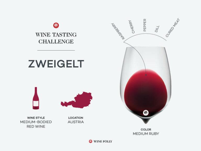 Glass of Zweigelt and region map